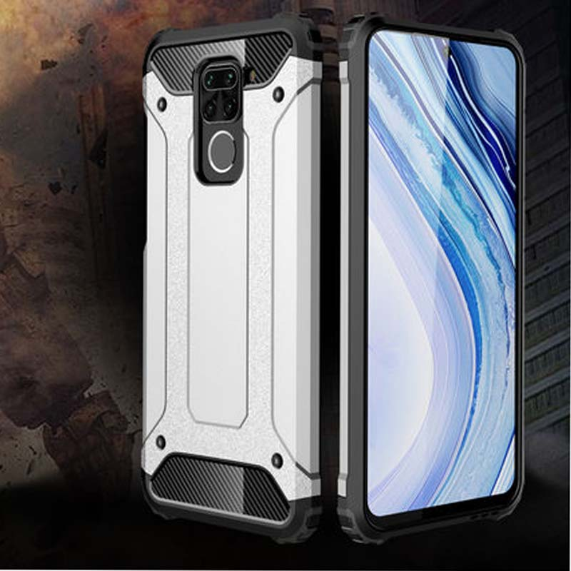 Xiaomi redmi nota 9 caso à prova de choque caso armadura para redmi nota 9 note9 10x 4g silicone macio & disco capa do telefone proteção pesada