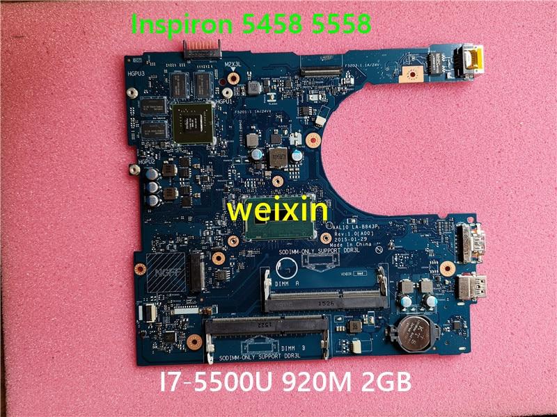 Материнская плата для ноутбука Dell Inspiron 5458 5558 VFD5V 1024 SR23W CN-0VFD5V DDR3L 920M 2GB протестированная материнская плата