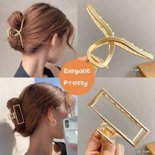 CANZE Korean Large Metal Hairpin Women Pearl Hair Clip Alloy Shark Clip Hairpin Tuck Comb Headdress