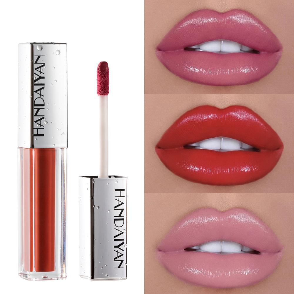Hidratante sexy nude rosa batom à prova dlong água longa duração brilho labial vívido colorido lipgloss matte volume maquiagem labial cosméticos