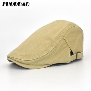 FUODRAO Adjustable Beret Caps Outdoor Sun Cotton Breathable Bone Brim Hats Womens Mens  Solid Colors Flat Berets Cap Hat A4