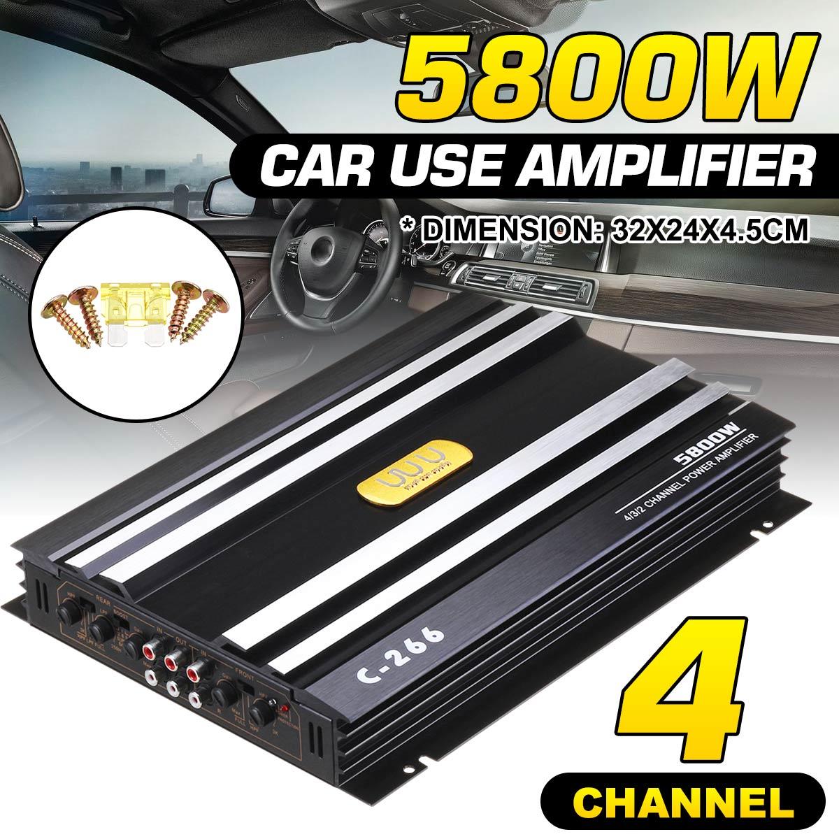 5800W Car Audio Power Amplifier 4 Channel 12V Car Home Digital Amplifer Car Audio Amplifier for Cars