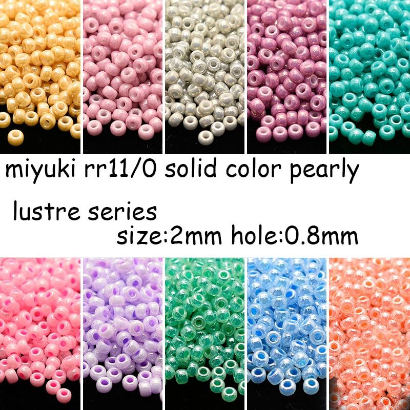 Cuentas de importación de Miyuki de Japón de 2mm para mujer, 11/0...