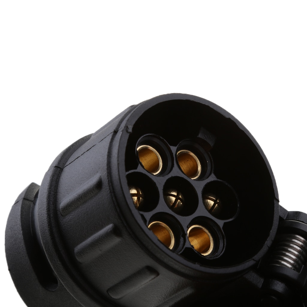 13 Om 7 Pin Trailer Towing Converter Trekhaak Plug Adapter Waterdichte Cap Hoge Kwaliteit