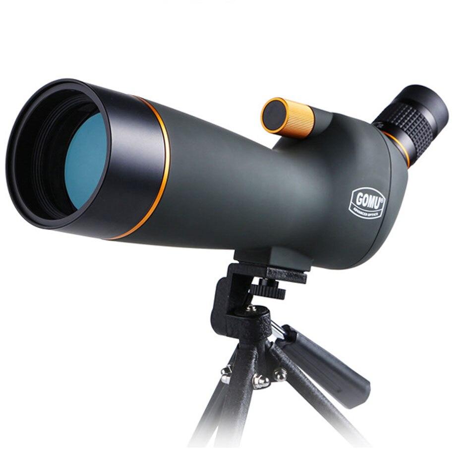 Gomu 20-60X60 Monocular Zoom HD conectar cámara portátil trípode telescopio Spotting Scopes para avistaje de aves caza