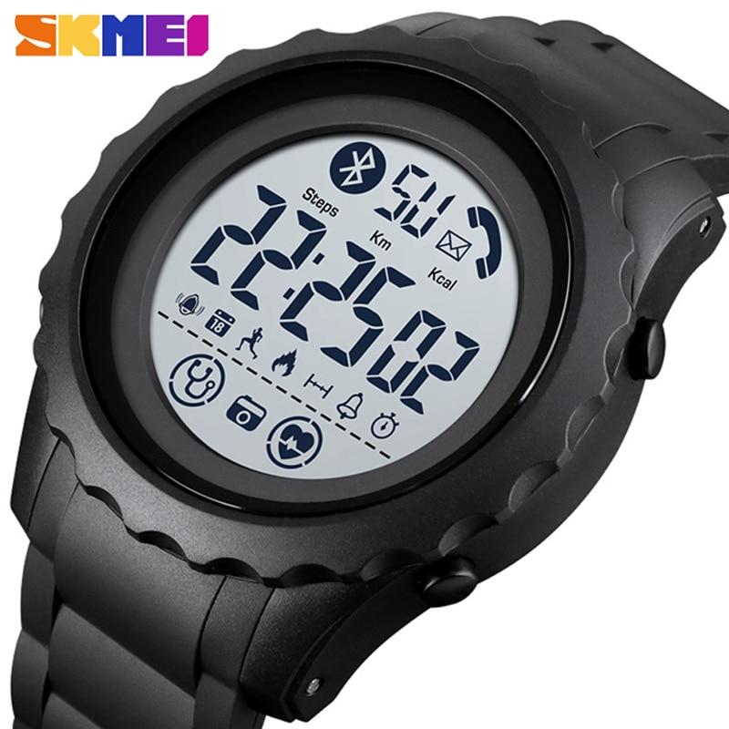 SKMEI-reloj deportivo de exterior multifunción para hombre, resistente al agua, de pulsera,...