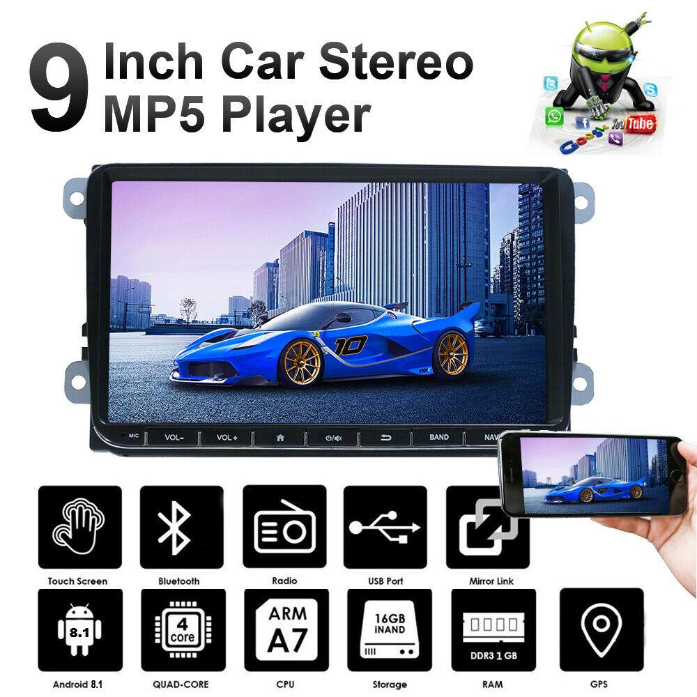 "2 Din Android 9.1 Car Radio 9"" Head Unit GPS Navigation 1G +16G Radios Para Auto Radio for Volkswagen VW Wifi Bluetooth USB"