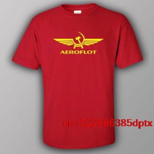 Camiseta rusas AEROFLOT airlines USSR CCCP Putin Rusia hombre de la KGB camiseta de Russia cccp tee