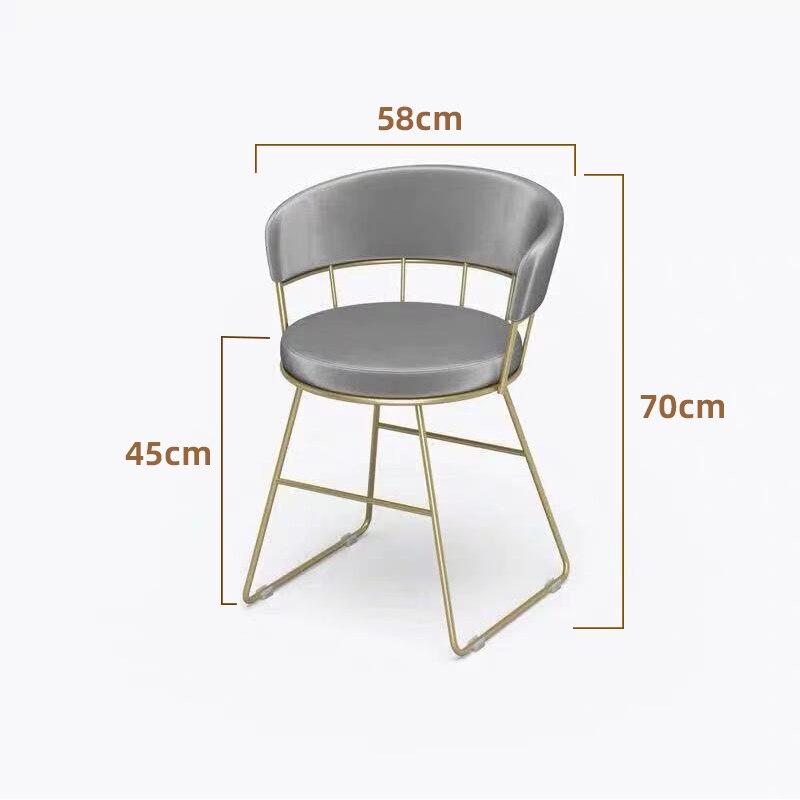 Современные Изогнутые Круглые стулья для маникюра в скандинавском стиле, минималистичные кованые стулья из Пномпеня для ногтей, мебель на ...