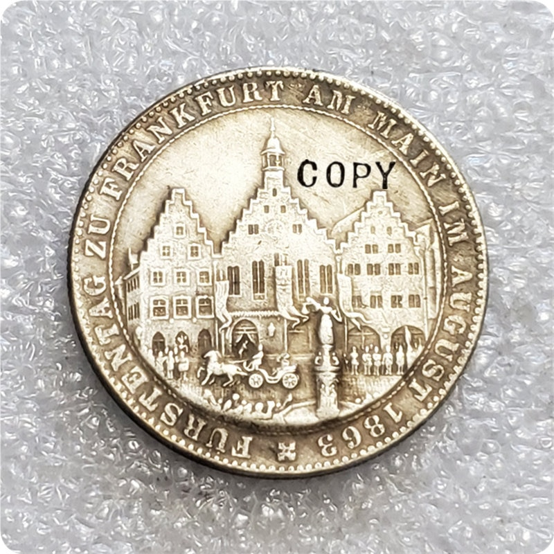 "1863 Free imperial city of Frankfurt(German states) 1 Thaler (""Memorial Thaler"") Copy Coin"
