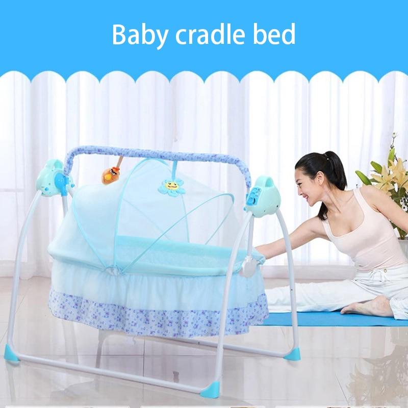Baby Smart Electric Cradle Rocking Bed Rocking Chair Newborn Smart Sleep Comfort Foldable Home Baby Cradle Bed Baby Swing Cradle enlarge