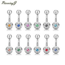 Piercingj 14G Unieke Dangle Belly Button Ring Veel Body Piercing Navel Barbell Sieraden 12 Pc