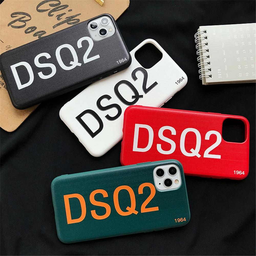 Marca de moda Simple cartas DSQ funda para teléfono para iPhone 11 Pro X XS X Max XR 7 8 Plus clásico de 1964 de silicona suave de par cubierta