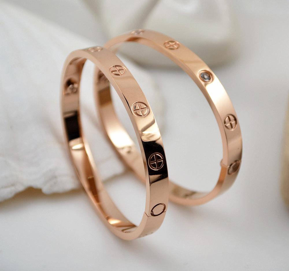 Bracelet amoureux titane acier couleur argent haute qualité Bracelet bijoux livraison directe