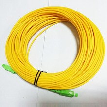 Ücretsiz kargo SM SX PVC 3mm 30 metre SC APC Fiber optik bağlantı kablosu SC/APC-SC/APC Fiber optik yama kablosu