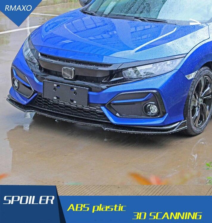 Para Honda Civic Hatchback kit de cuerpo spoiler 2020-2021 cívica RXK ABS trasera alerón trasero borde difusor de parachoques delantero parachoques Protector