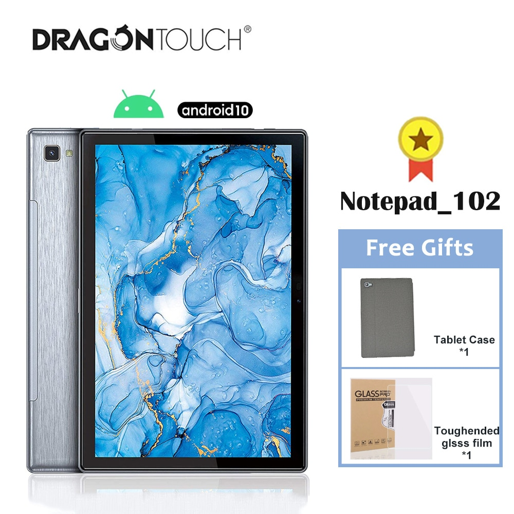 Dragon Touch New Tablet Notepad 102 10 inch Android 10 Tablet Octa-Core 3GB+32GB IPS HD Wifi Bluetooth 5G GPS Tablets PC Laptop