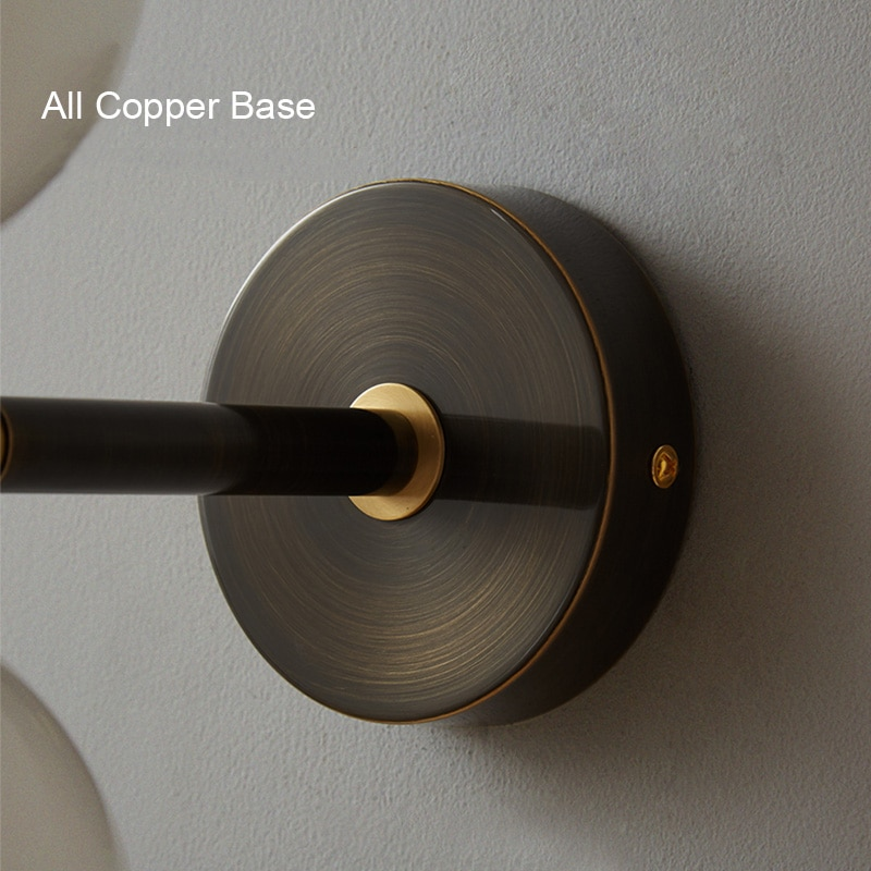 Modern Simple Copper Wall Lamps Living Room Bedroom Bedside Glass G9 Wall Light Nordic Home Decoration Lighting Drop Shipping  - buy with discount