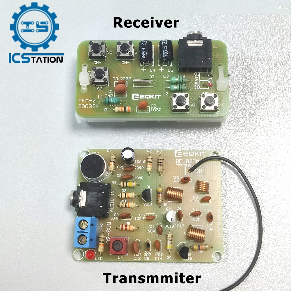 88-108MHz DIY Kit FM Radio Transmitter and Receiver Module Frequency Modulation Stereo Receiving PCB Circuit Board nktech cze 15b adjustable 0 3w 15w 87mhz 108mhz with pc control fm transmitter broadcast radio station stereo lcd backlight
