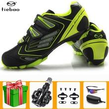 Tiebao vtt chaussures de cyclisme hommes Sports de plein air sapatilha ciclismo autobloquant antidérapant VTT baskets course femmes chaussures