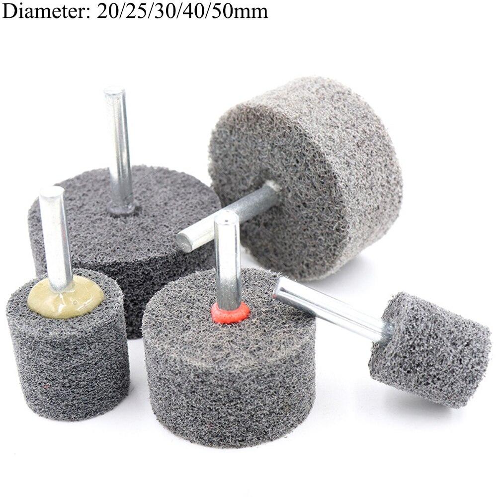 "1/5 pces 20-50mm fibra de polir roda abrasiva 1/4 ""haste para broca moedor de metal"