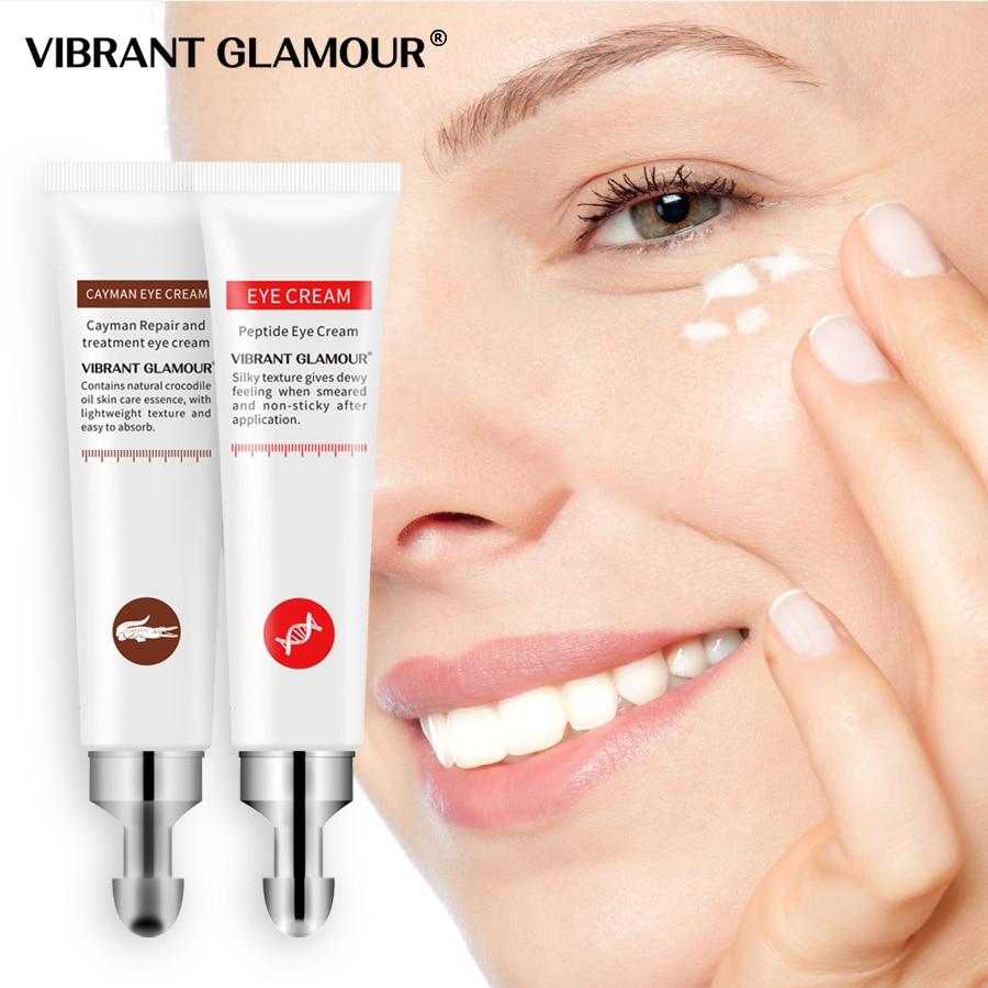 VIBRANT GLAMOUR crème pour les yeux Six peptide collagène + Crocodile ensemble Anti-rides dissolvant cernes anti poches soin des yeux