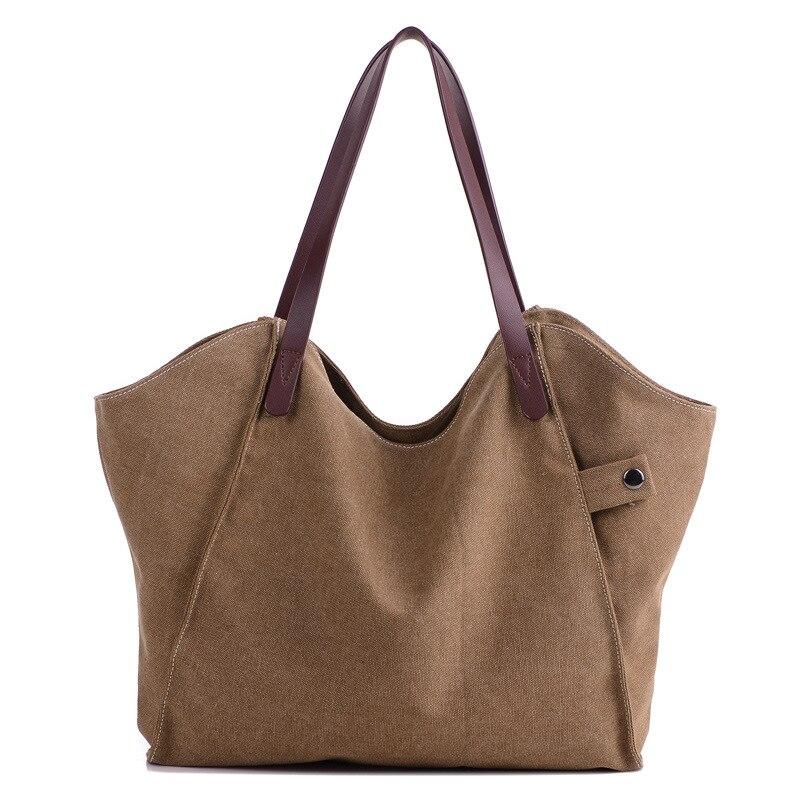 Bolso grande de lona Vintage para mujer, bolsa grande de lona, Bolso...