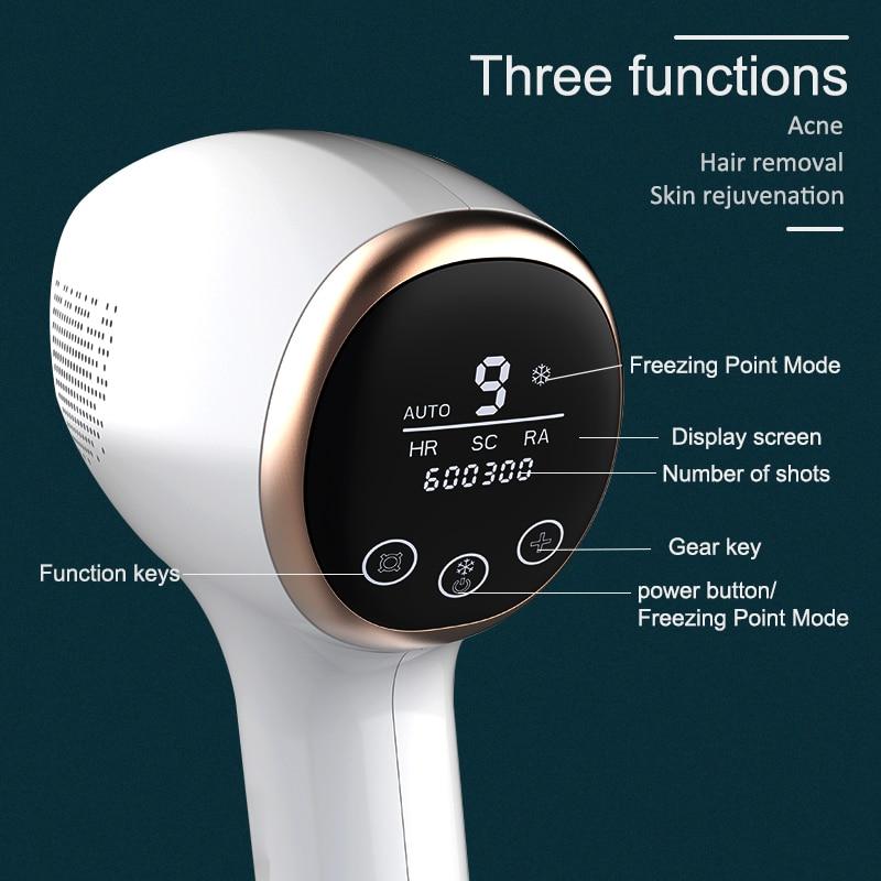 IPL Epilator painless ice care hair removal device permanent household laser sapphire private parts lip hair shaving machine ski enlarge