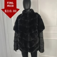real fur coat women real natural rex rabbit fur coat removable batwing sleeves multicolor with down sleeves real fur waistcoat