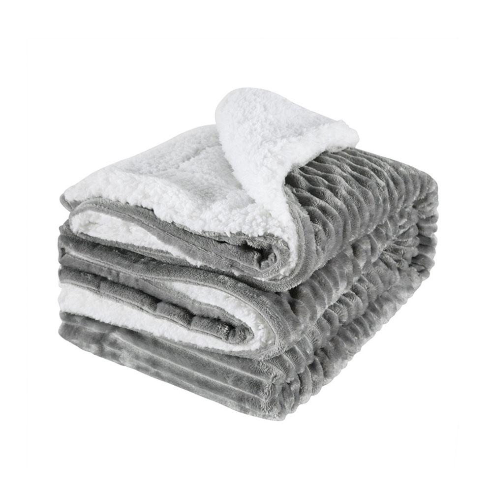 Sofá macio Quente Cordeiros Espessamento Malha Throw Blanket Tricô Cobertores Colcha Dupla Camada Sherpa Velo Plush para Camas