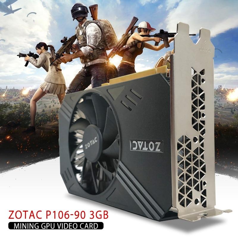 Tarjeta de vídeo para gamerock Premium Edition P106-90 3GB minería Tarjeta de Video GPU GTX 1060 GDDR5 PCI Express 3,0 6-Pin PCI-E PCI Express 2,0x16 2020 nuevo