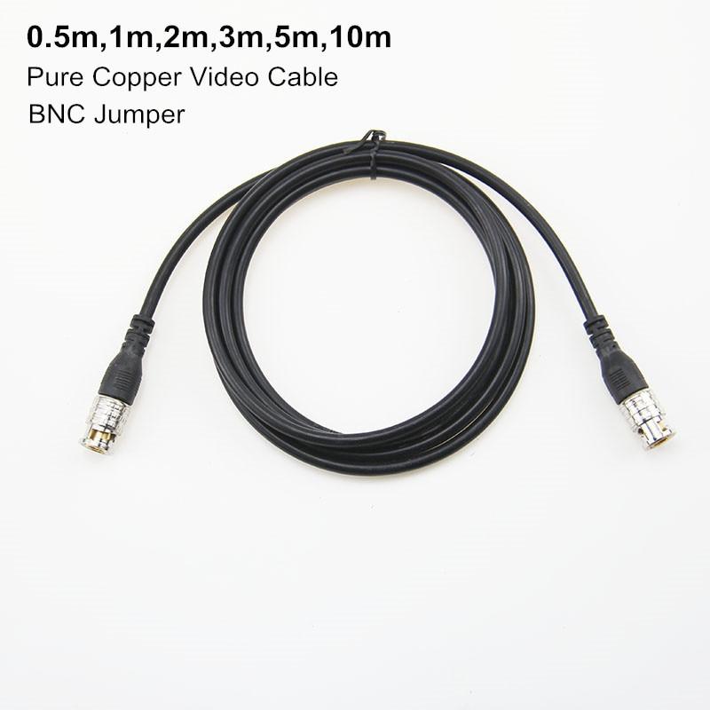 0,5 м, 1 м, 2 м, 3 м, 5 м 10 м мониторинга видео кабель с байонетным коаксиальным разъемом джемпер Q9 голова готовая линия кабель камеры SYV-75-3 бескисл...