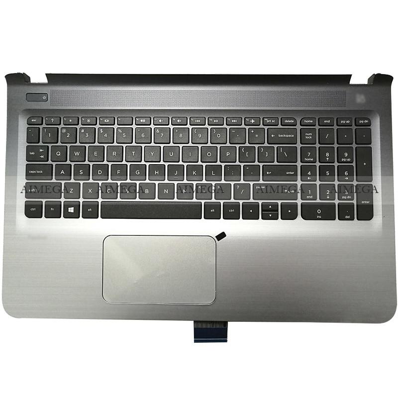 جديد لابتوب HP بافيليون 15-AB 15-AB006TX 15-AB065TX 15-AB297TX TPN-Q159 Palmrest حالة العلوي لنا لوحة المفاتيح لوحة اللمس/أسفل حالة