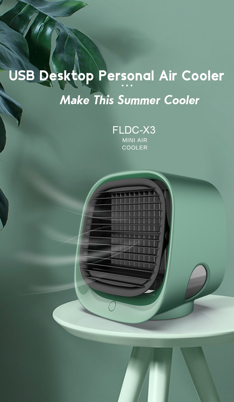 Evaporative Portable Air Conditioner Personal Space Cooler - 3 in 1 Mini USB Fan, Purifier, Humidifier
