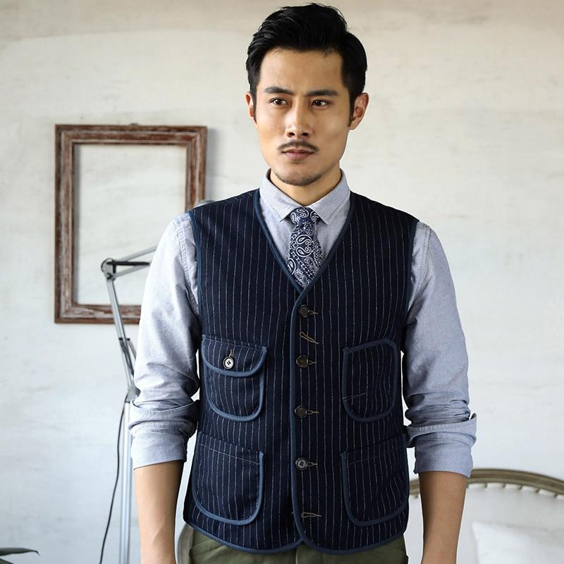 ¡MJ-0013 leer la descripción! Asian size vintage 55% lana chaleco hombres casua chaleco
