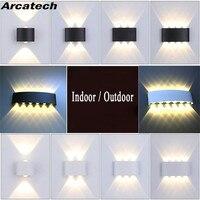 Современная светодиодная настенная лампа в скандинавском стиле, алюминиевый уличный и комнатный светильник для дома, лестницы, спальни, пр...