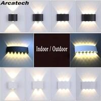 Lampe nordique moderne en aluminium pour linterieur et lexterieur  conforme a la norme Ip65  eclairage vers le haut et vers le bas  ideal pour une chambre a coucher  une salle de bain ou des escaliers