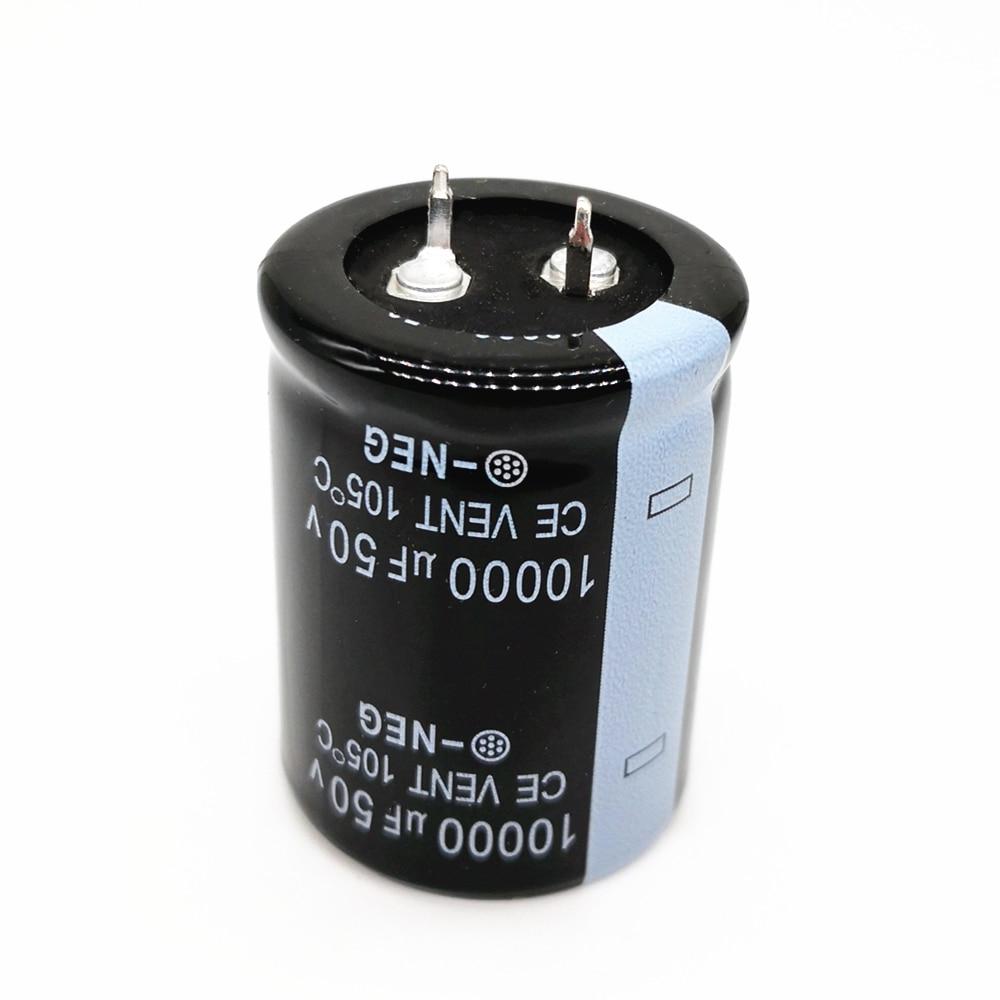 2 unids/lote 50V 10000UF Radial DIP condensadores electrolíticos de aluminio tamaño 30*40 10000UF 50V tolerancia 20%