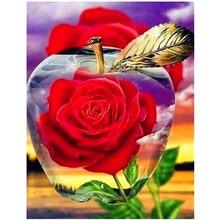 Voller diamanten 5D blumen diamant malerei rose DIY diamant stickerei kit landschaft mosaik dekoration glauben geschenk