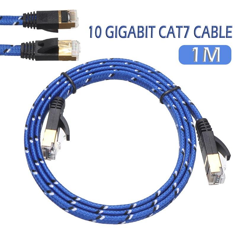 Cable Ethernet RJ45 Cat7 para interruptor de enrutador, Cable Lan duradero blindado...