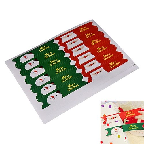 36 pcs/set christmas package paper Stationery Sticker Merry christmas Santa Claus Snowman Seal Sticker