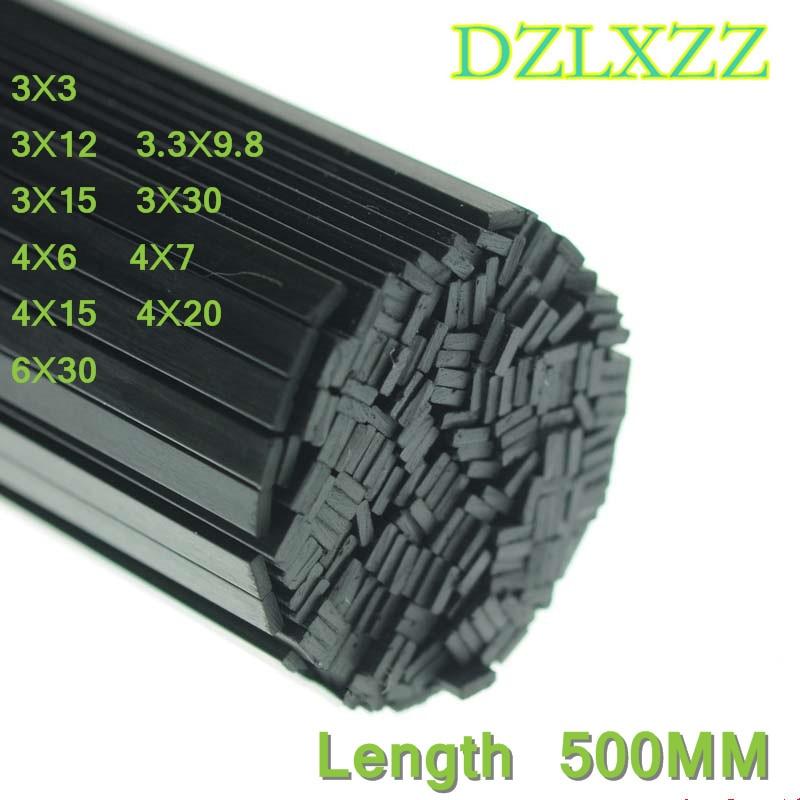 Комплект из 2 предметов, из углеродного волокна с квадратным ленты 3X3 3,3X9,8 3X12 3X15 3х25, 3X30 4X6 4X7 4X15 4X20 6X30 мм для RC Airpalne Длина модели 500 мм