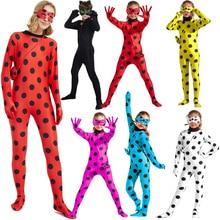 Costume Cosplay coccinella per bambini e adulti Zentai Fancy Outfit abito da festa natale costumi di Halloween Stage Show set di tute