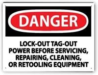 7503 warning signdanger lo to before servicingtin aluminum metal decor painting traffic warning sign 8x12 inch