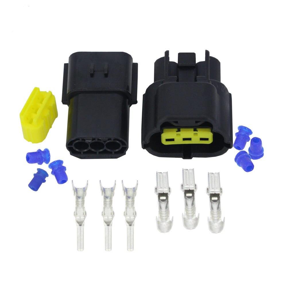 3 pinos DJ70316Y-1.8-11/21 conector de sensor de oxigênio conector de fio elétrico à prova dwaterproof água plugue conector do automóvel