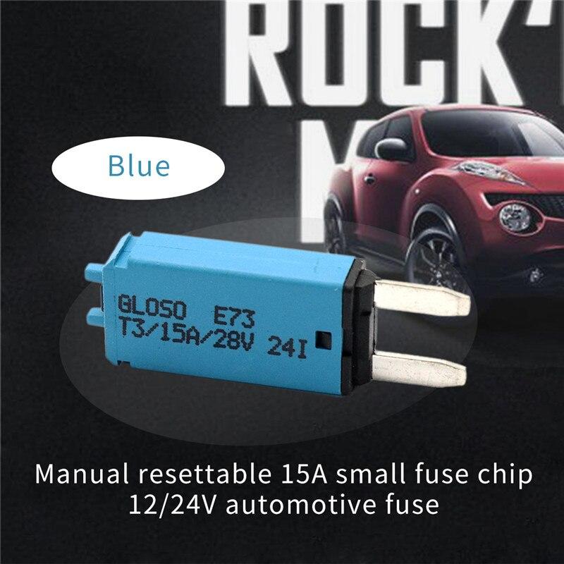 Fusible reajustable manualmente 15A mini fusibles 12/24V Fusibles automotrices motocicleta barco micro fusible accesorios de coche