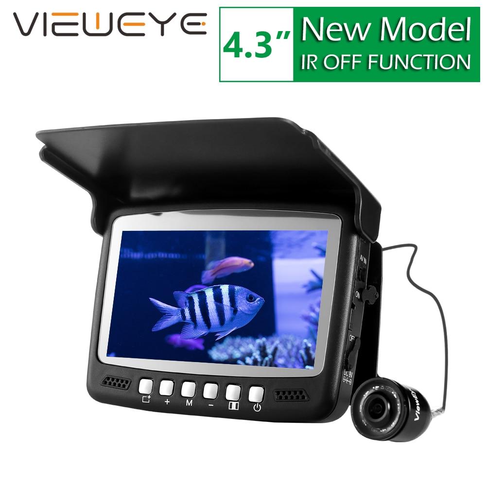 ViewEye Visible Video Fish Finder River Lake Sea Real-time Live Underwater Ice Video Fishfinder Fishing Camera IR Night Vision