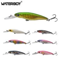 waterboy minnow fishing lure hard artificial bait 3d eyes 68mm 7 4g wobblers crankbait floating plastic baits minnow pesca