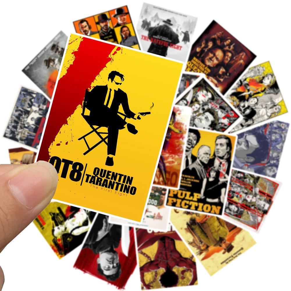 24pcs-quentin-tarantino-movie-pulp-fiction-kill-bill-stickers-for-diy-laptop-luggage-refrigerator-decor-waterproof-toy-sticker