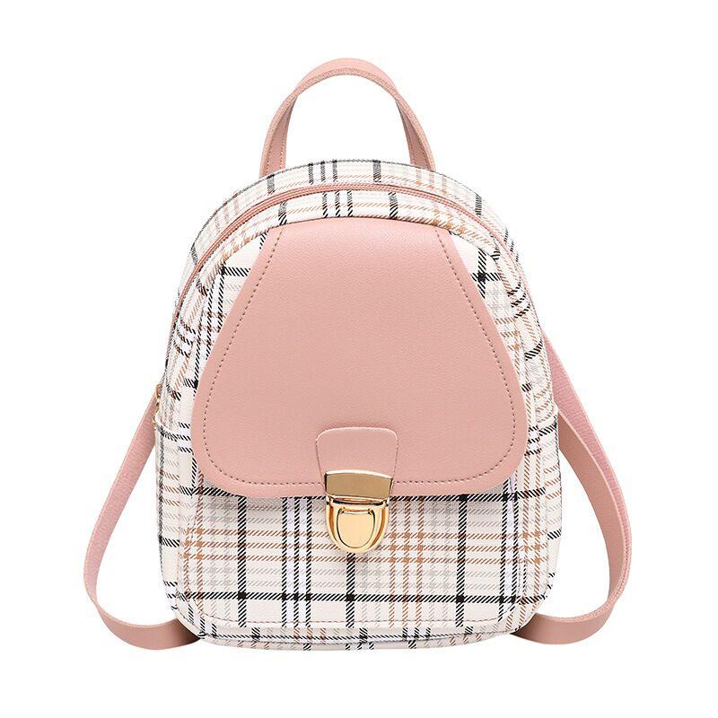 Vento Marea Mini Rucksack Umhängetasche Für Teenager Mädchen Plaid Frauen Schulter Telefon Geldbörse Koreanischen Stil Neue Trendy Weibliche Bagpack